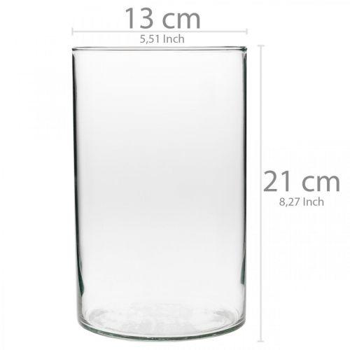 Vetro decorativo, vetro per candele, decorazioni per la tavola, vaso di fiori Ø13cm H21cm