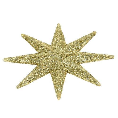 Stella glitterata oro Ø10cm 12 pezzi