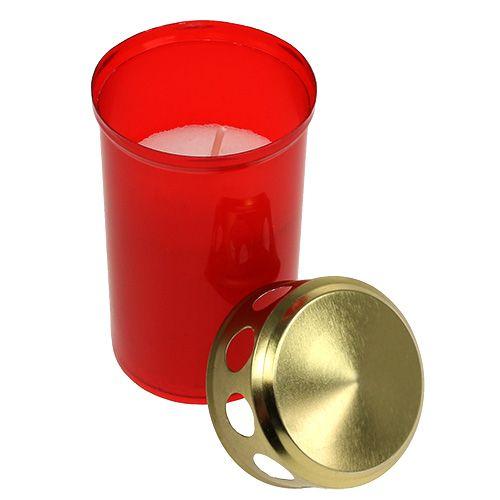 Grave luce cilindrica rossa Ø6cm H10cm 12pz