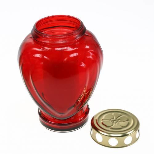 Tomba cuore chiaro rosso 11,5 cm x 8,5 cm H 17,5 cm 4 pezzi