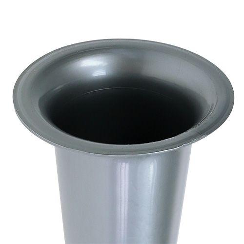 Vaso tomba argento 28,5 cm