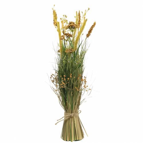Fascio di erba artificiale con millefoglie 64cm