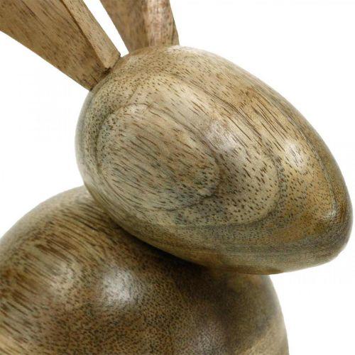 Coniglietto in legno seduto, coniglio decorativo, decorazione in legno, Pasqua 18 cm