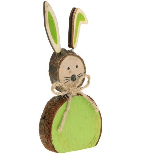 Deco coniglietto in legno colori assortiti 10cm 8 pezzi