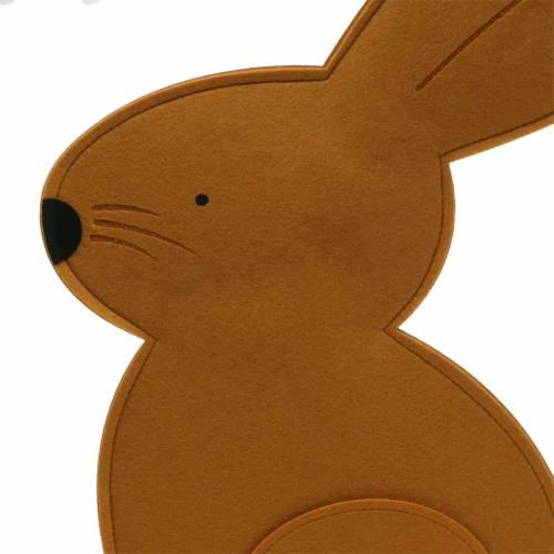 Seduta di coniglio decorativo in feltro marrone chiaro 40 cm x 7 cm H61 cm Decorazione pasquale, vetrina