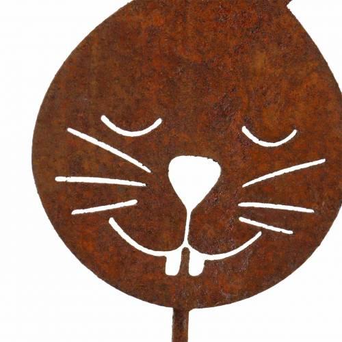 Tappo in metallo Hasenkopf ruggine H52,5 cm
