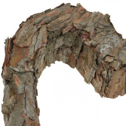 Deco cuore aperto corteccia di pino decorazione autunnale tomba decorazione 30 × 24 cm