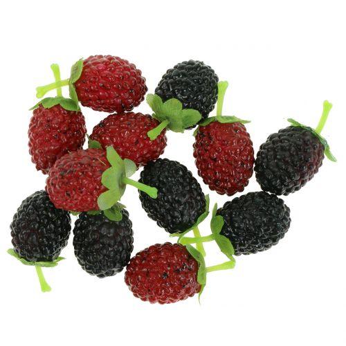 Raspberry Mix Rosso / Nero 4 cm x 2 cm 36 pezzi