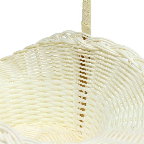 Cestino nuziale bianco Ø13,5cm H30cm