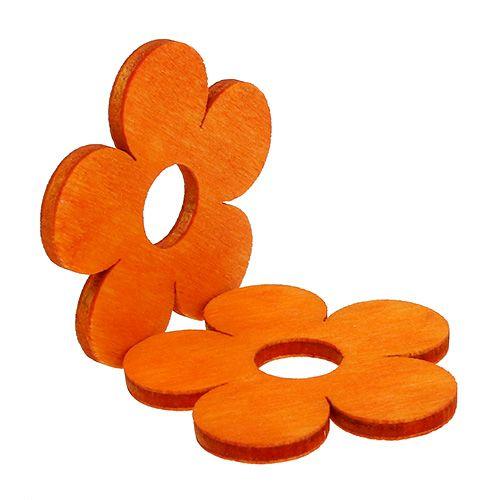 Fiore in legno per cospargere di arancia 4 cm 72 pezzi