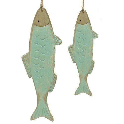 Pesce di bosco Decorazione da appendere verde 18 cm o 24,5 cm 2 pezzi