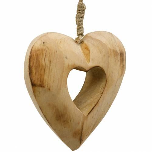 Ciondolo decorativo cuore, cuore in legno, San Valentino, ciondolo in legno, decorazioni per matrimoni 6 pezzi