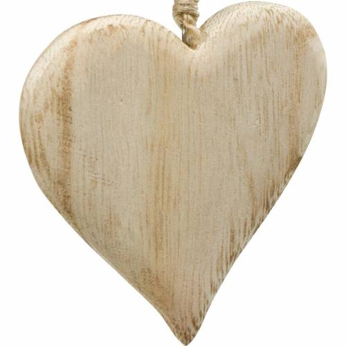 Cuore decorativo San Valentino cuore in legno da appendere decorazione legno naturale 4 pezzi