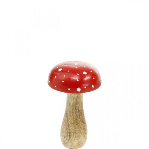 Fungo decorativo in legno fungo decorativo autunnale Ø9cm H14.5cm
