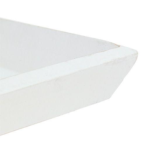 Ciotola in legno 25 cm x 25 cm in bianco
