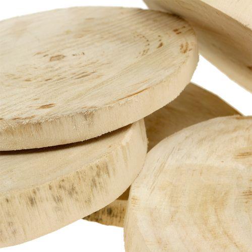 Dischi di legno naturali Ø11cm - 13cm 5pcs