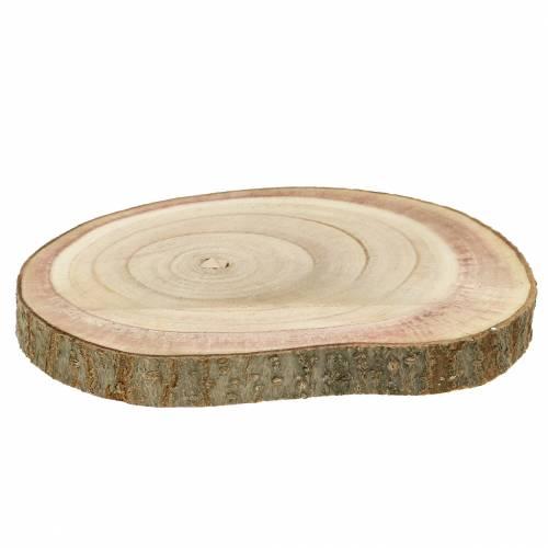 Fetta di albero campana blu naturale Ø20-30cm 1p