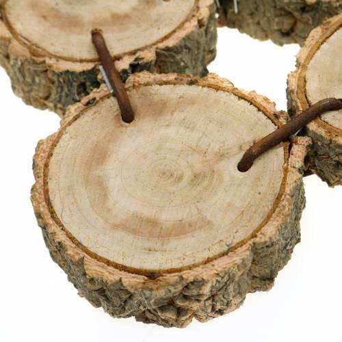 Vassoio decorativo fatto di fette di legno, natura 37 × 22,5 cm