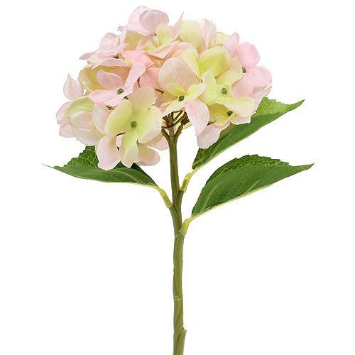 Ortensia rosa chiaro artificiale 36cm