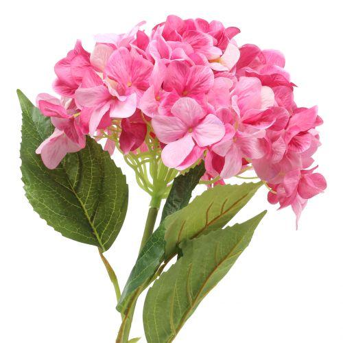 Ortensia grande rosa artificiale L110cm