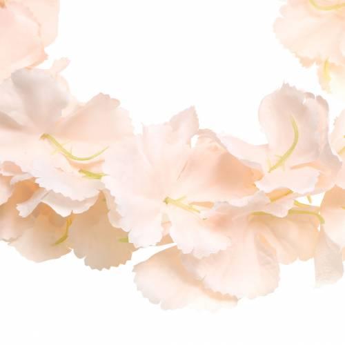 Ghirlanda di fiori decorativi albicocca artificiale 135 cm 5 fili