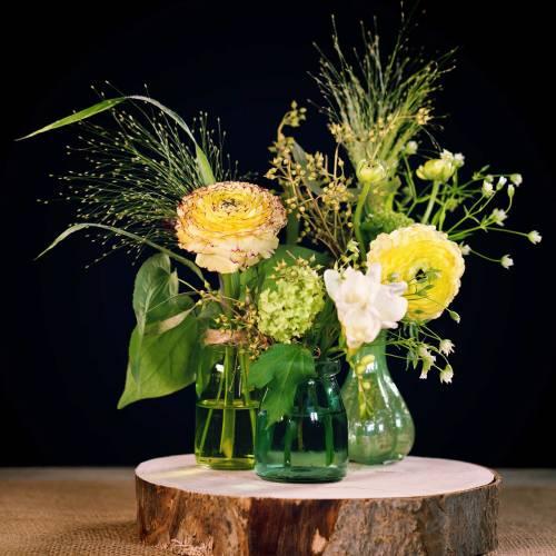 Vaso di vetro Farmer Silver Green H11cm 6 pezzi