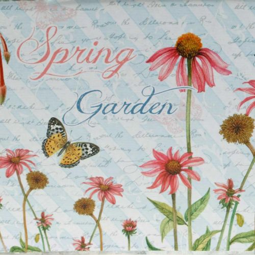 Fioriera per giardiniere con manici fiori in metallo decoro primaverile 23 × 14 × 11cm