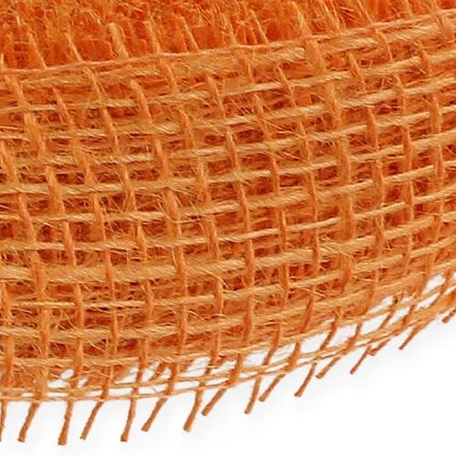 Nastro di iuta arancione chiaro 5 cm 40 m