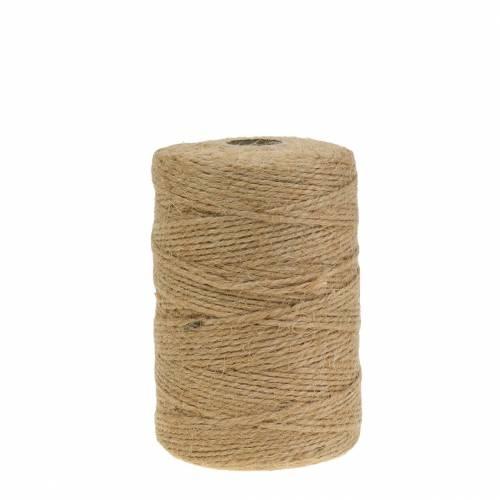 Cordoncino di iuta versatile naturale 1 mm 200 m 1 pz