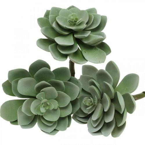 Decorazione di piante succulente artificiali piante artificiali verdi 11 × 8,5 cm 3 pezzi