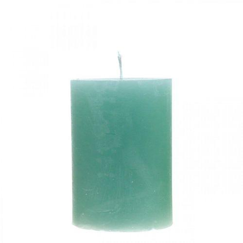 Candele pilastro colorate verde 70 × 100mm 4pz