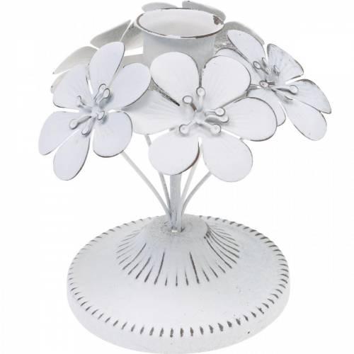 Addobbi primaverili, candelieri in metallo con fiori, addobbi nuziali, portacandele, addobbi tavola