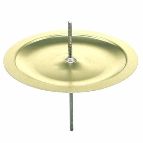 Candeliere con spine oro Ø6cm 36pz