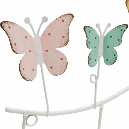 Decorazione primaverile, attaccapanni con farfalle, decoro in metallo, armadio decorativo 36cm