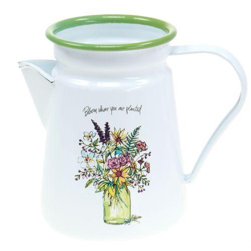 Deco vaso da fiori smaltato Ø12cm H16cm