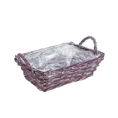Cestino angolare viola scuro 25 cm x 18 cm H10 cm