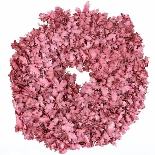 Ghirlanda di foglie di quercia rosa cerata Ø38cm