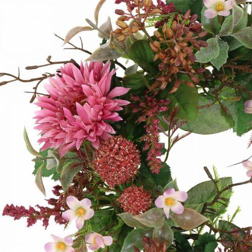 Ghirlanda autunnale fiori di seta gerbera rosa ghirlanda da tavola Ø32cm