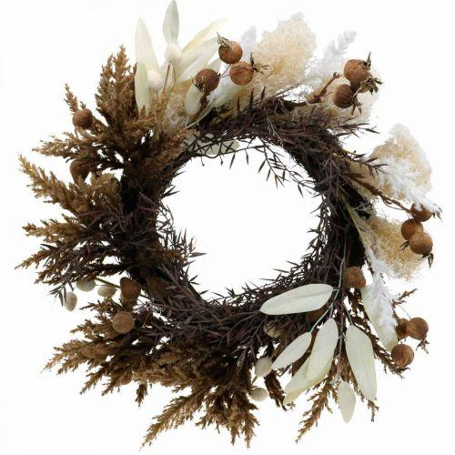 Ghirlanda decorativa ghirlanda artificiale per porta con erba secca e frutta Ø50cm