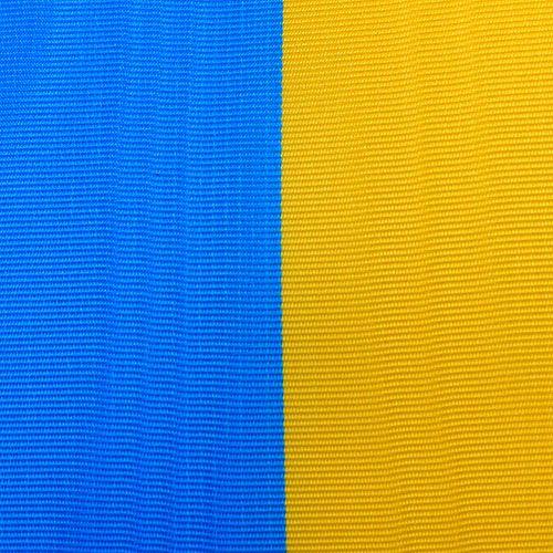 Nastri ghirlanda moiré blu-giallo