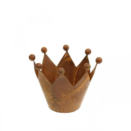 Luce del vento decorativa, corona in metallo, portacandela in acciaio inossidabile H6.5cm Ø4cm