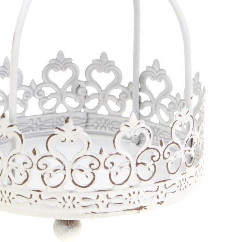 Corona per appendere bianco antico Ø10,5cm