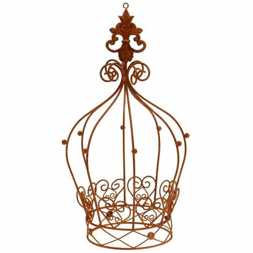Corona decorativa bella ruggine H26cm Ø16cm