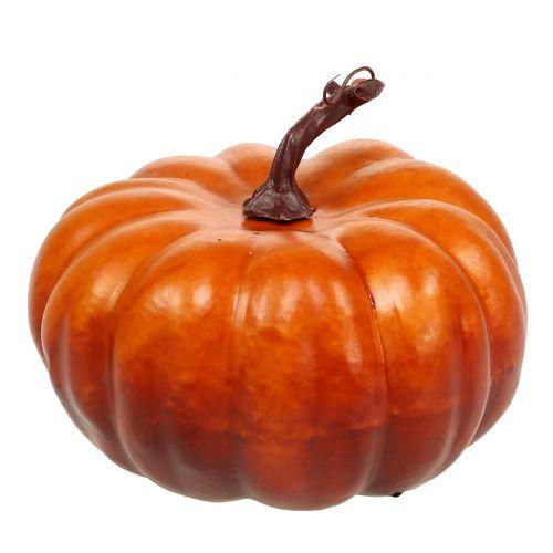 Zucca artificiale arancione 18cm