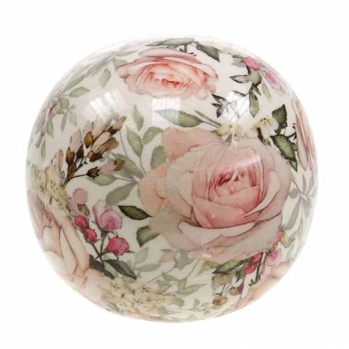 Rose a sfera decorative terracotta rosa chiaro Ø12cm
