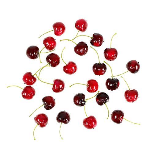 Ciliegie di frutta artificiale mix Ø2,5cm 24 pezzi