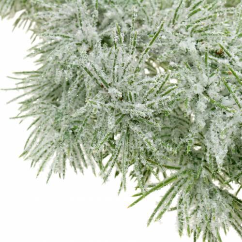 Ghirlanda di larici con glitter e neve 160cm