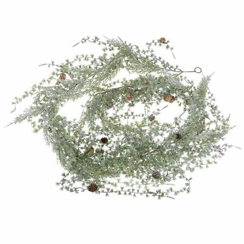 Lärchengirlande Green / Geeist con coni 180cm