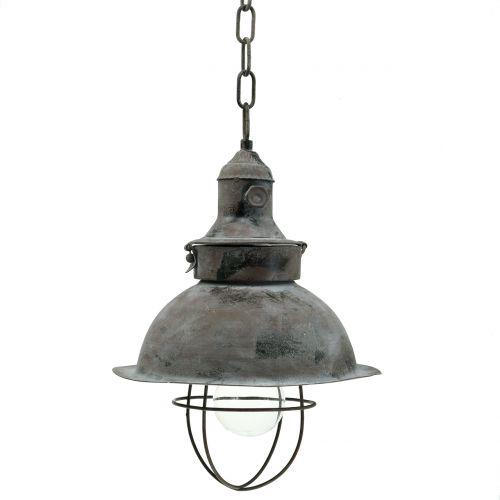 Lampada a sospensione antica Ø22cm H33cm