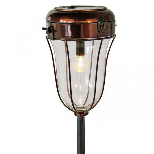 Lanterna solare da collegare, tubo LED Ø13,5cm L58cm H21cm